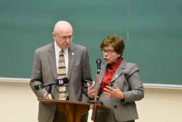 UW System President Ray Cross and Chancellor Rebecca Blank